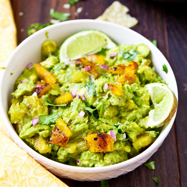 Grilled Pineapple Guacamole from The Brewer and the Baker