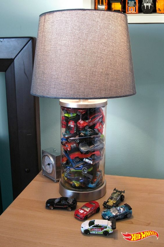 Hot Wheels Collectables Lamp from Pinterest