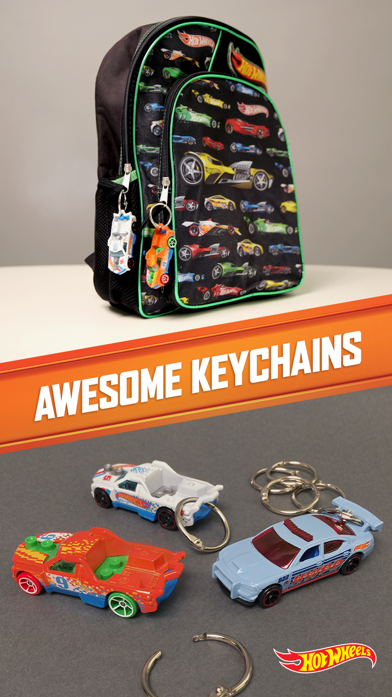 DIY Hot Wheels Key Chains from Hot Wheels