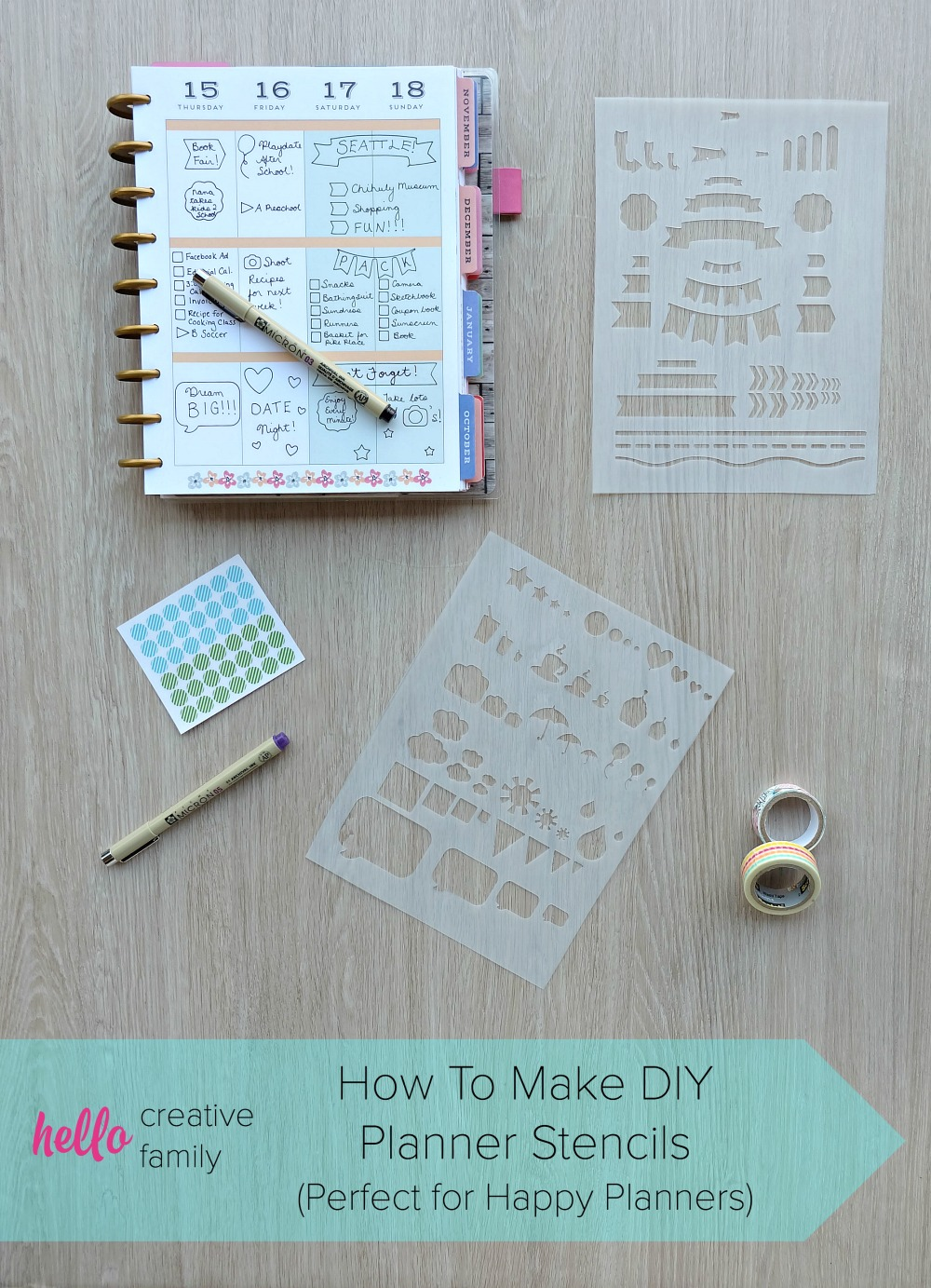 How to make diy planner stencils perfect for happy for Create planner online