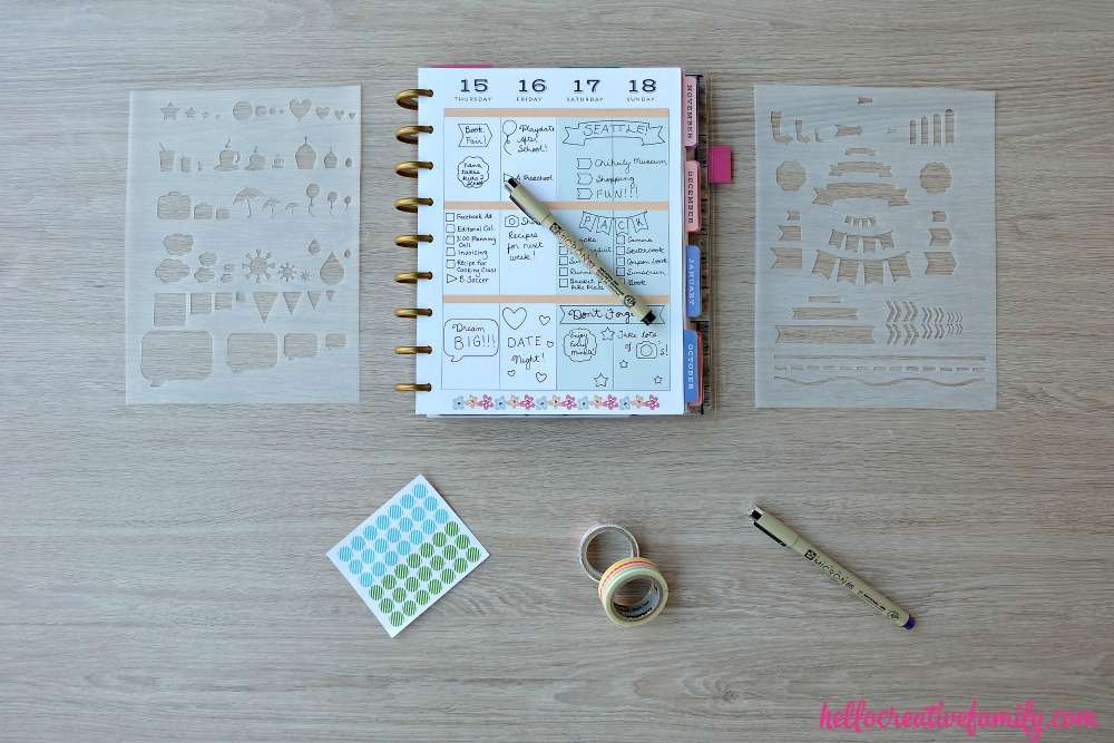 How To Make DIY Planner Stencils (Perfect for Happy Planners ...