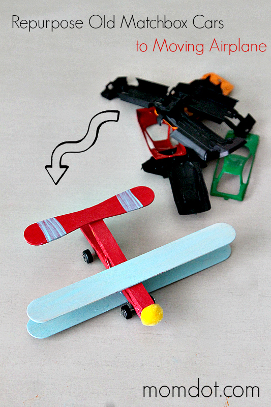 Matchbox Car Repuroposed into a DIY Airplane Tutorial