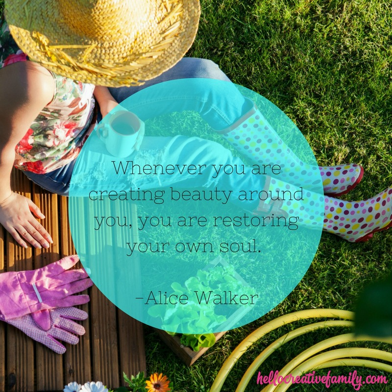 Quote from Alice Walker: Whenever you are creating beauty around you, you are restoring your own soul.