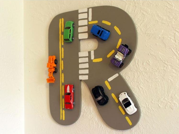 DIY Toy Car Monogram Project from Welke