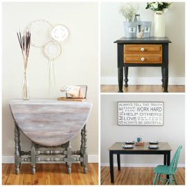 You saw the diamond in the rough and picked up that old wood table at a garage sale or thrift store. But now what? This DIY Basics post gives you all the tips and tricks you'll need to learn how to refinish a wood table. Turn your thrift store find into an easy DIY project!