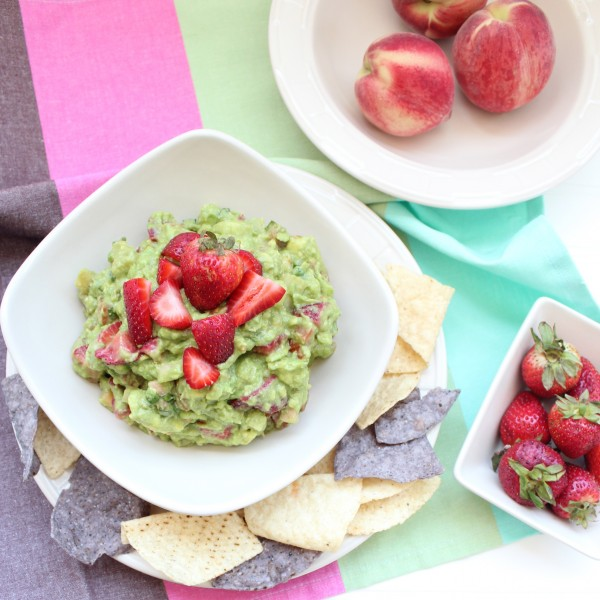 Strawberry Peach Guacamole Recipe from Whitney Bond