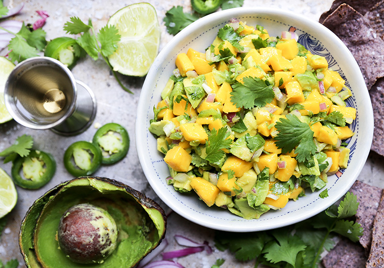 Tequila Spiked Mango and Avocado Salsa Recipe from Floating Kitchen