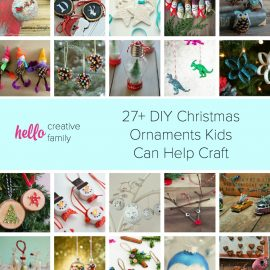 Looking for fun family Christmas activities? Have a family Christmas decoration party! Here are 27+ DIY Christmas Ornaments Kids Can Help Craft!