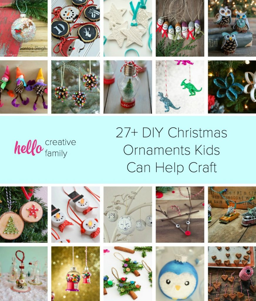 27  diy christmas ornaments kids can craft