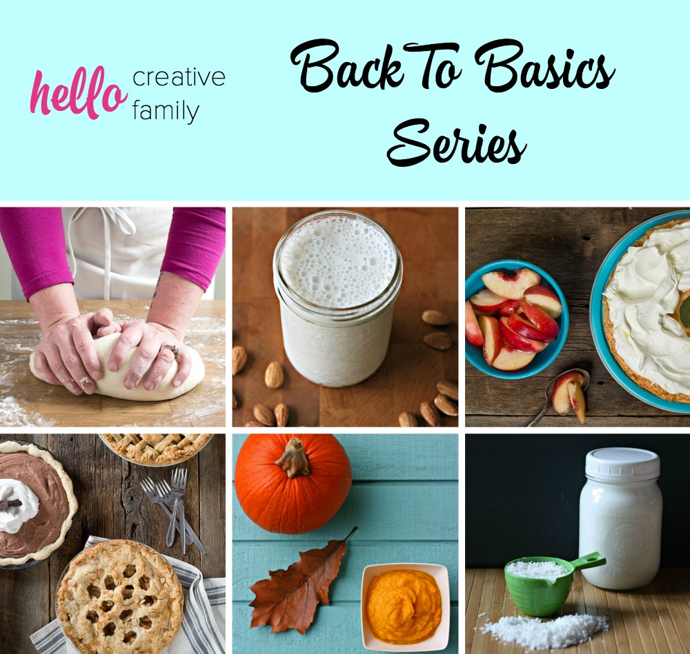 Hello Creative Family's Back To Basics Series shares simple kitchen recipes that will take your home cooking to the next level! Why buy it in the store when you can make it at home! Helping you live a handmade, homemade, heart-made life!