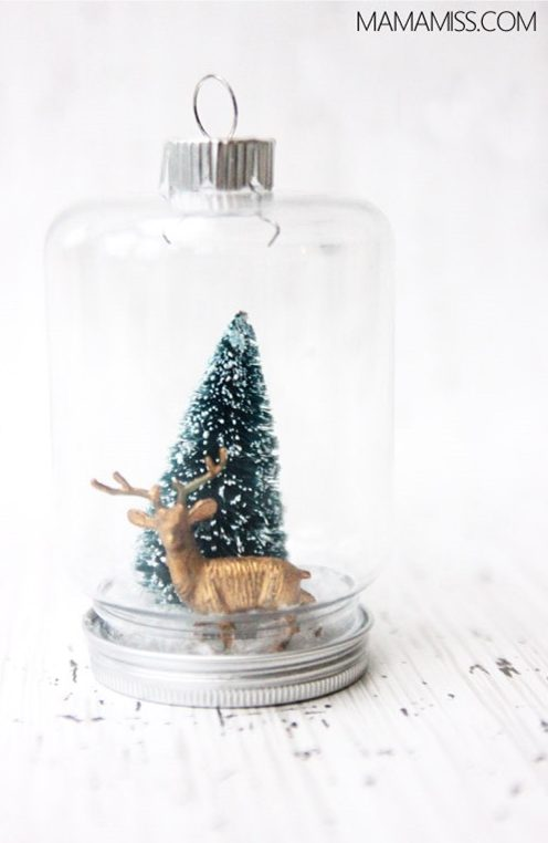 27+ DIY Christmas Ornaments Kids Can Craft- DIY Vintage Inspired Jar Ornament from Mama Miss