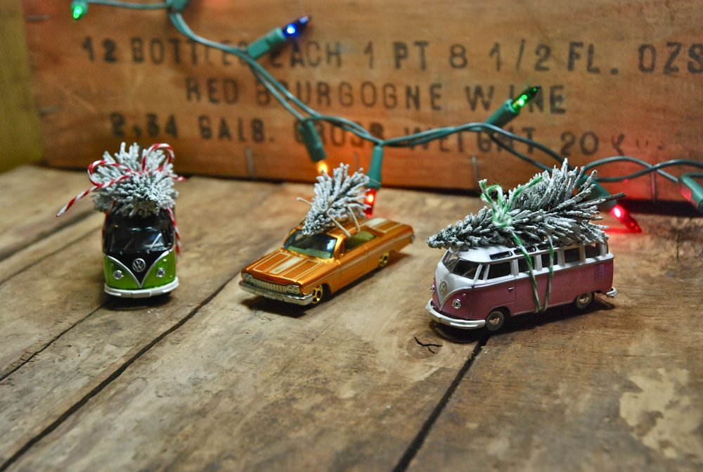 27+ DIY Christmas Ornaments Kids Can Craft- DIY Vintage Toy Car Christmas Ornaments from Eyeballs By Day Crafts By Night