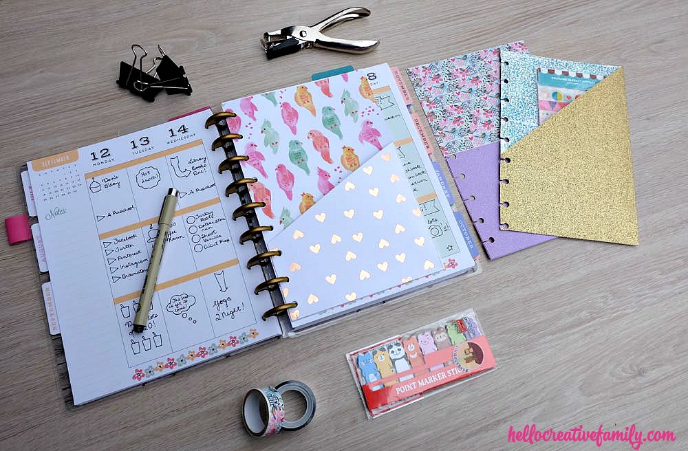 How to make diy planner folder pockets perfect for happy for Happy planner accessories
