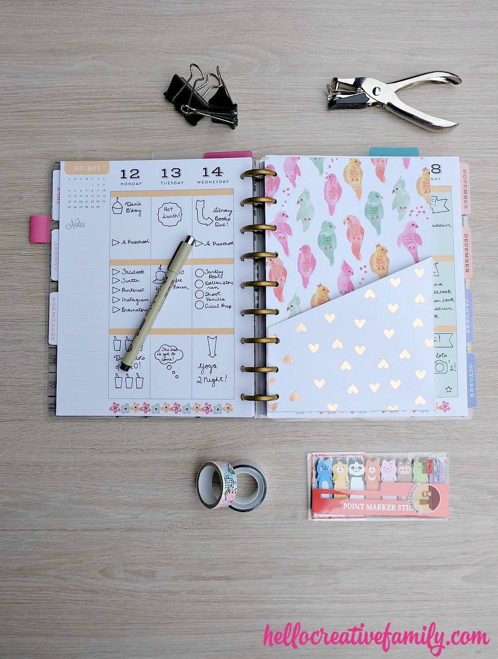 How to make diy planner folder pockets perfect for happy for Create planner online
