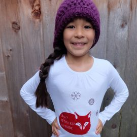"""This adorable fox shirt with the holiday quote """"Baby It's Cold Outside"""" would be make a wonderful handmade Christmas gift for kids. It's so cute and easy to make with a Cricut Explore. I love graphic tees and Hello Creative Family has a great collection of graphic shirts."""