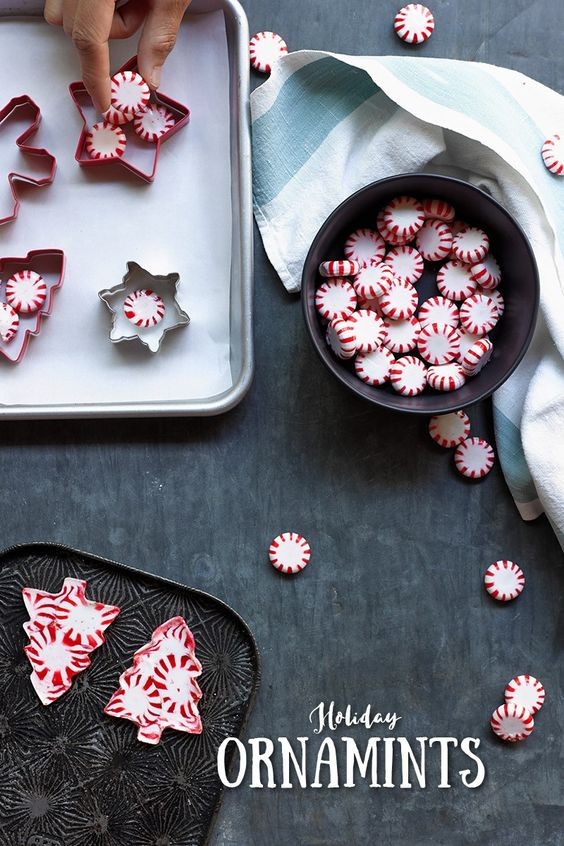 27+ DIY Christmas Ornaments Kids Can Craft- Peppermint Candy Christmas Ornaments from Reynolds Kitchens