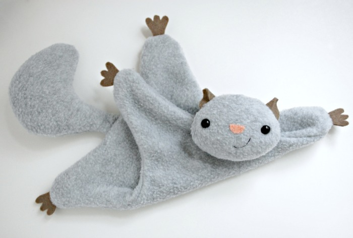 27+ Adorable Free Sewing Patterns for Stuffies, Plushies, Stuffed Animals and Other Felt and Fabric Toys- Flying Squirrel Stuffy Pattern from While She Naps