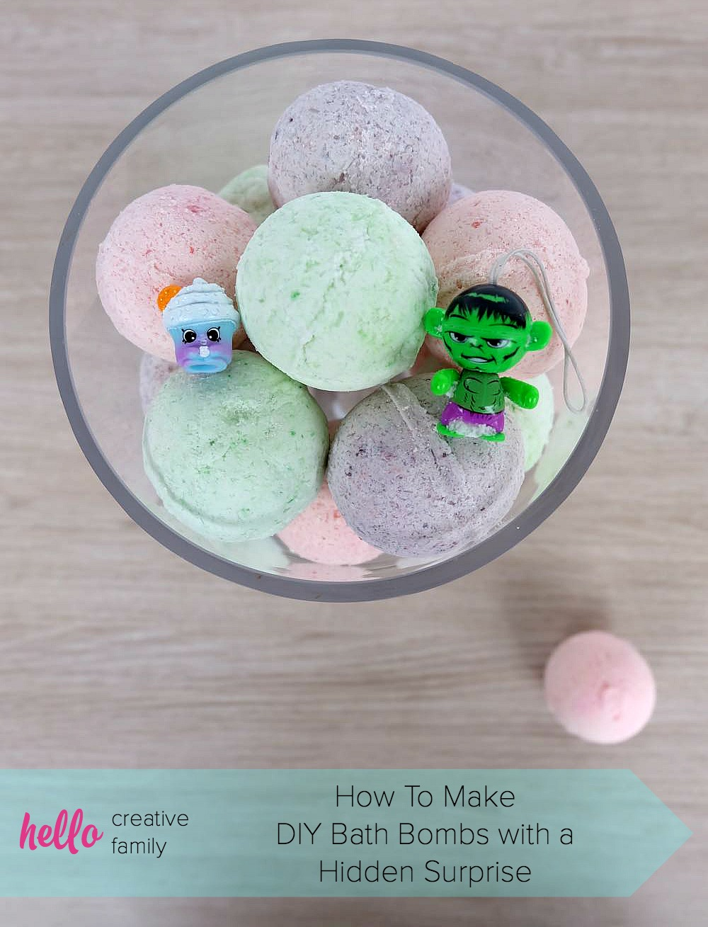 50 Easy Handmade Gift Ideas You'll Love: DIY Bath Bombs With Toys Hidden Inside
