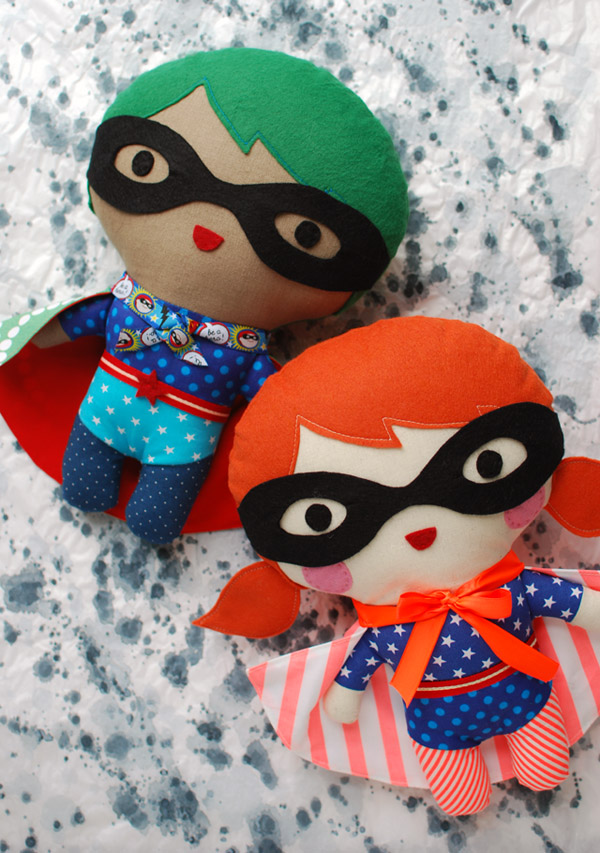 27+ Adorable Free Sewing Patterns for Stuffies, Plushies, Stuffed Animals and Other Felt and Fabric Toys- How to Make A Superhero Plushy from EnvatoTuts+