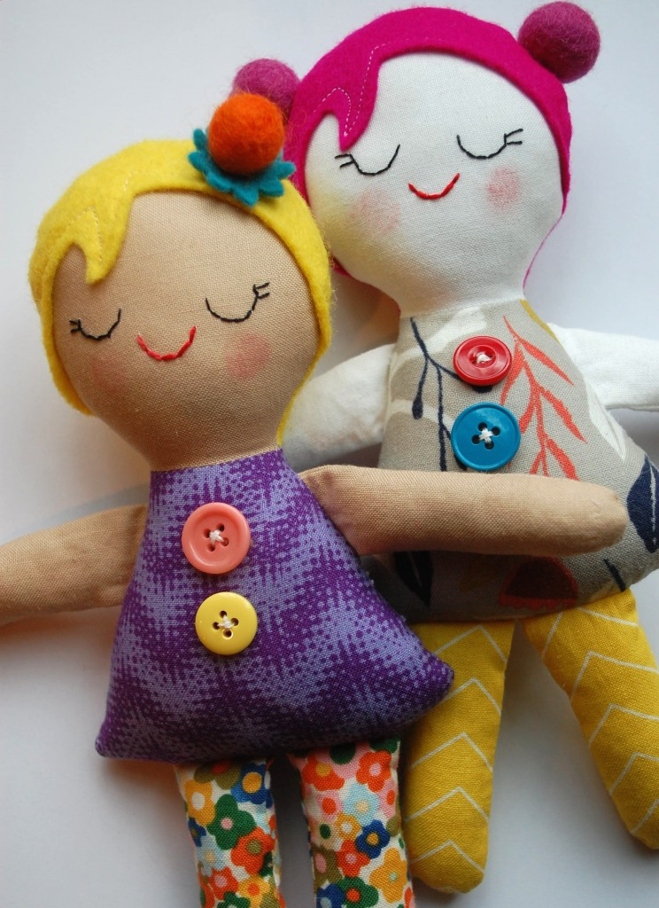 27+ Adorable Free Sewing Patterns for Stuffies, Plushies, Stuffed Animals and Other Felt and Fabric Toys- Josephine Doll Tutorial from While She Naps
