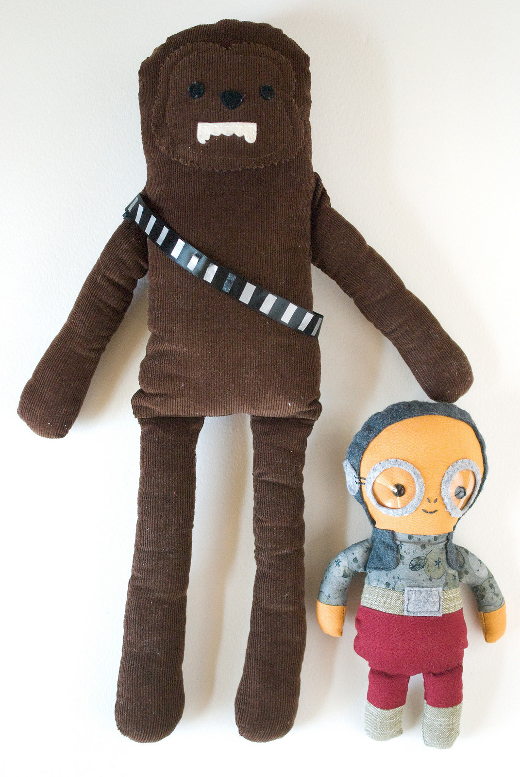27+ Adorable Free Sewing Patterns for Stuffies, Plushies, Stuffed Animals and Other Felt and Fabric Toys- Maz Kanata and Chewbacca Plush from Wild Olive