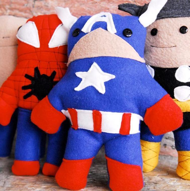 27+ Adorable Free Sewing Patterns for Stuffies, Plushies, Stuffed Animals and Other Felt and Fabric Toys Princess and Super Hero Softies Pattern from Craftsy