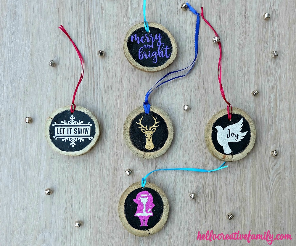 These gorgeous handmade Christmas ornaments would make a beautiful addition to any rustic Christmas tree. Bonus, this DIY project is made from upcycled wood! DIY Upcycled Wood Christmas Ornaments would make a great handmade gift idea!