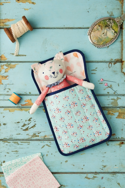 27+ Adorable Free Sewing Patterns for Stuffies, Plushies, Stuffed Animals and Other Felt and Fabric Toys- Sleepy Kitty Stuffy Pattern from Sew Style and Home