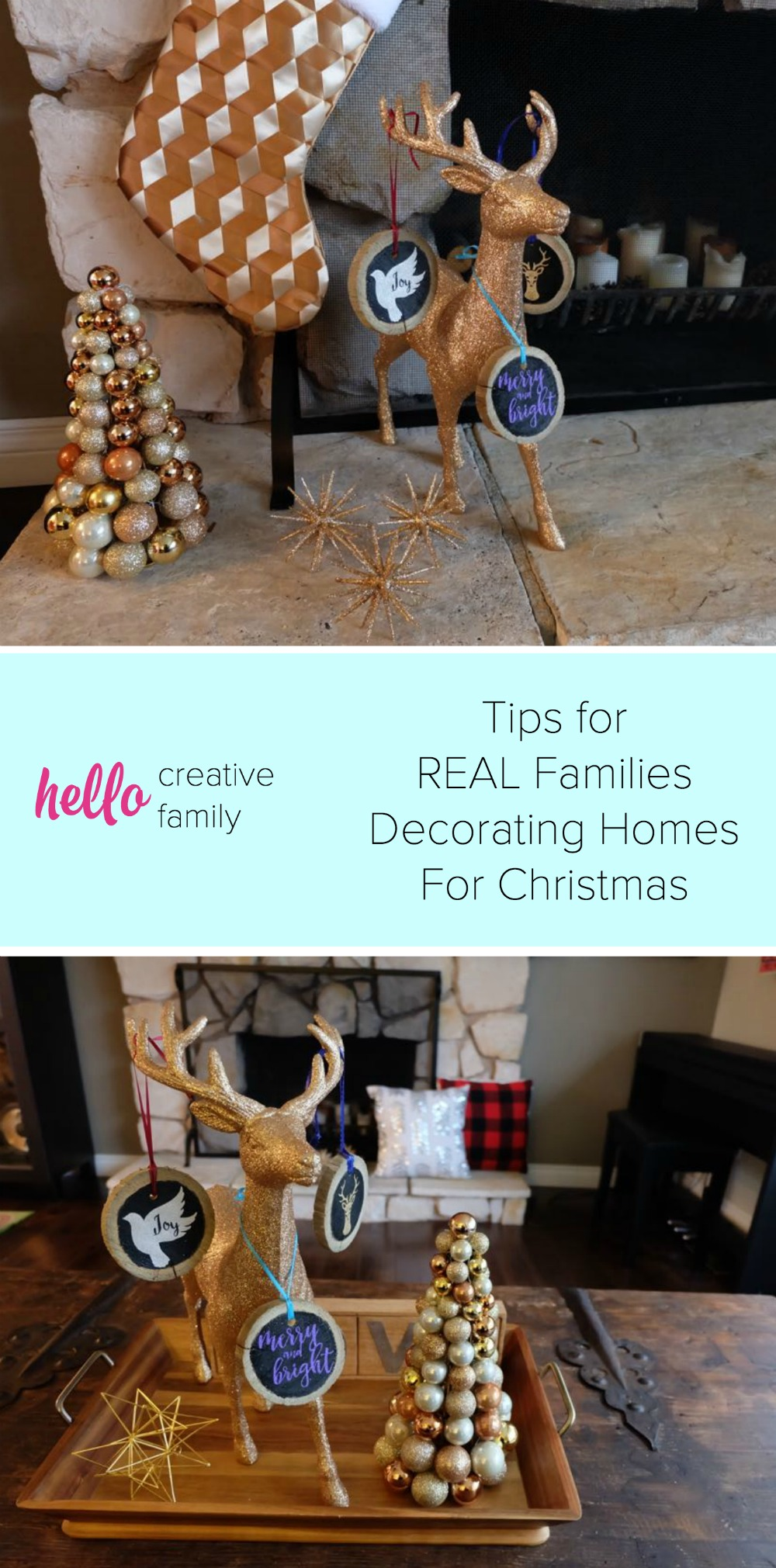 It's about to get real! My Home Confession Plus Tips for REAL Families for Decorating Their Home For Christmas- Kids, Messes, Life and All!