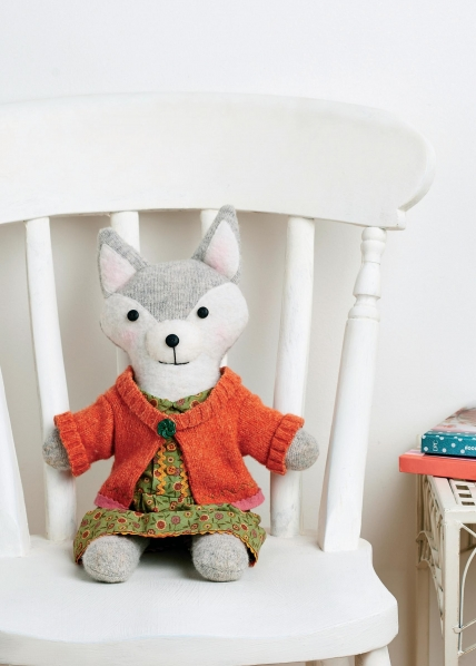 27+ Adorable Free Sewing Patterns for Stuffies, Plushies, Stuffed Animals and Other Felt and Fabric Toys- Upcycled Mrs. Fox Plushy from Sew Style and Home