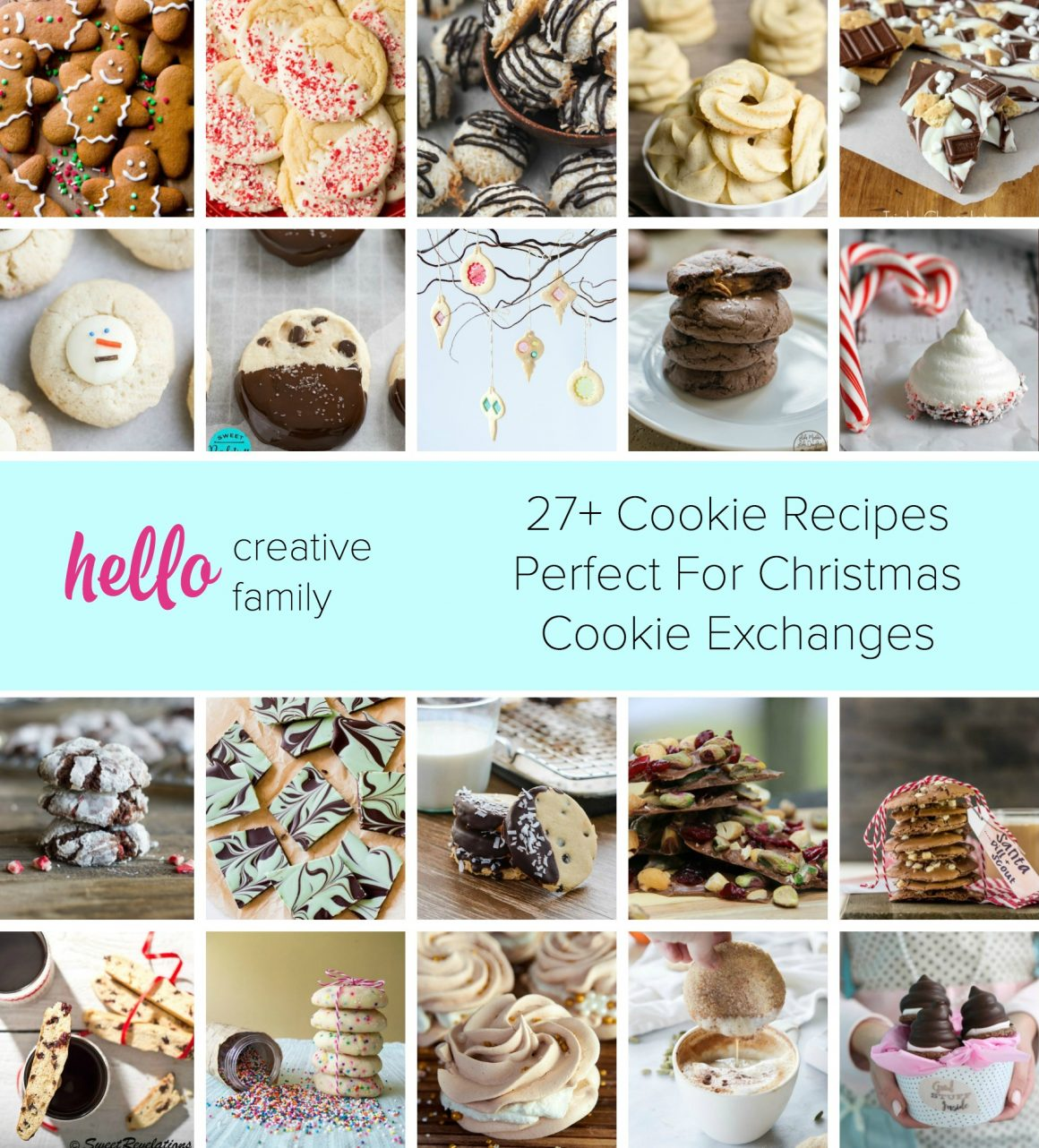 Looking for cookies, barks or biscotti recipes for your next Christmas cookie exchange? Here are 27 delicious cookie recipes that are perfect for cookie exchanges or handmade gifts.