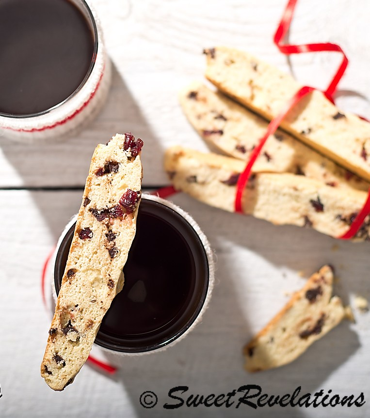 27+ Cookie Recipes Perfect For Christmas Cookie Exchanges- Cranberry Orange Chocolate Biscotti from Sweet Revelations