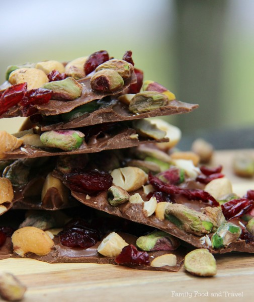 27+ Cookie Recipes Perfect For Christmas Cookie Exchanges- Cranberry Pistachio and Cashew Bark from Family Food and Travel
