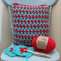Plow Cushion Crochet Pattern and Kit from We Are Knitters + A Giveaway!