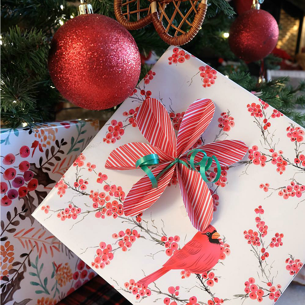 how to make simple diy poinsettia bows - How To Make Christmas Bows Out Of Ribbon