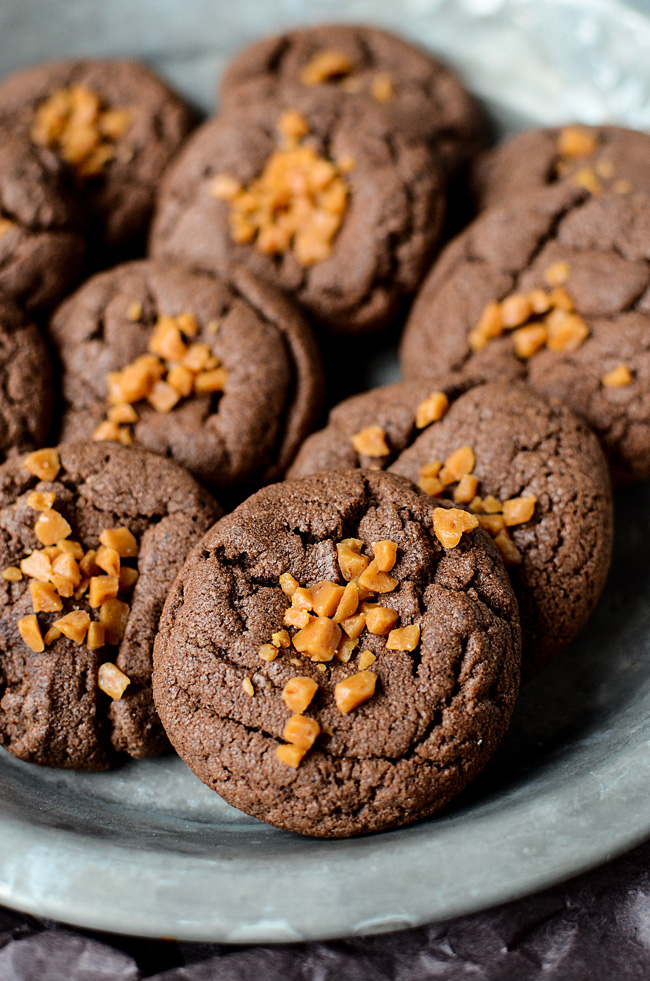 27+ Cookie Recipes Perfect For Christmas Cookie Exchanges- Easy Chocolate Toffee Cookies from The Bewitchin Kitchen