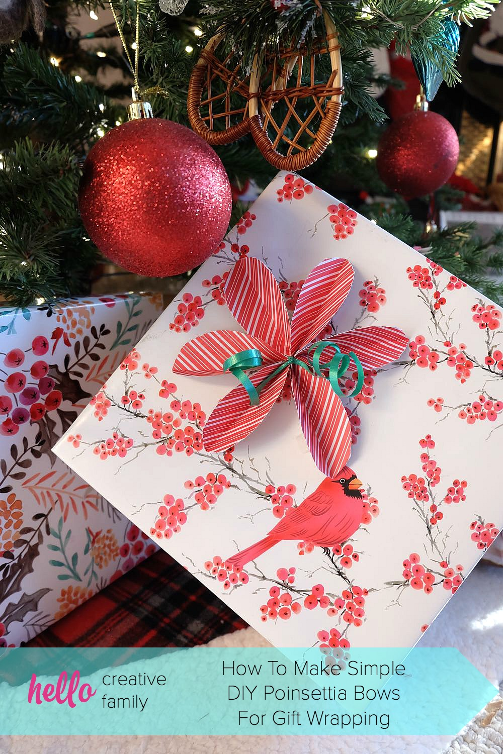 Easy To Make Christmas Gifts How to make simple diy poinsettia bows skip the store bought bows and diy them instead learn how to make super simple sisterspd