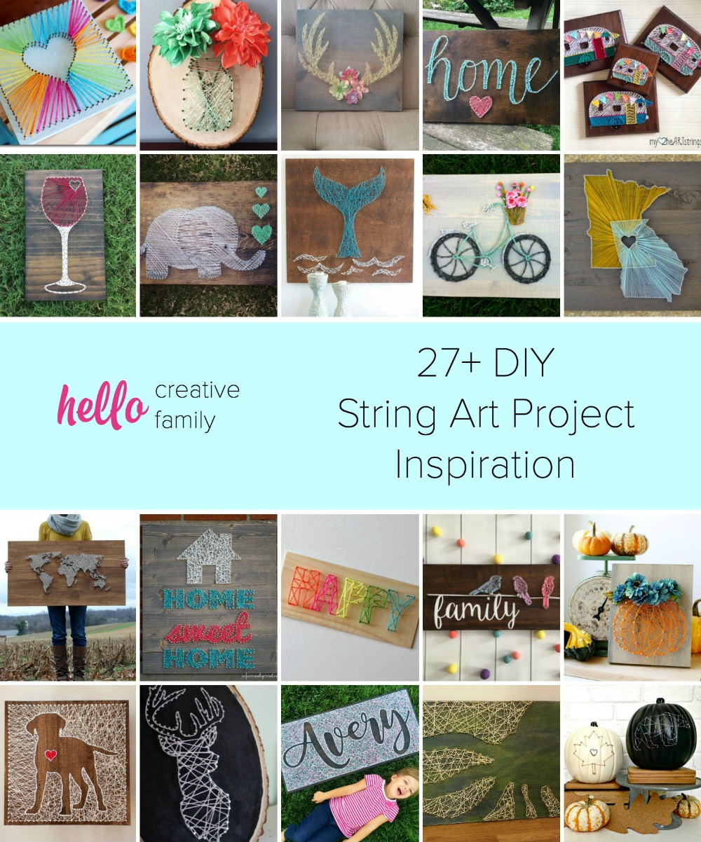 Want to try your hand at DIY String Art Projects? Look no further! Here is inspiration for a ton of gorgeous string art projects plus a few pieces you can buy from Etsy if you aren't the crafty type!