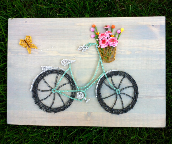 Bicycle String Art from Cactus Lily Crafts