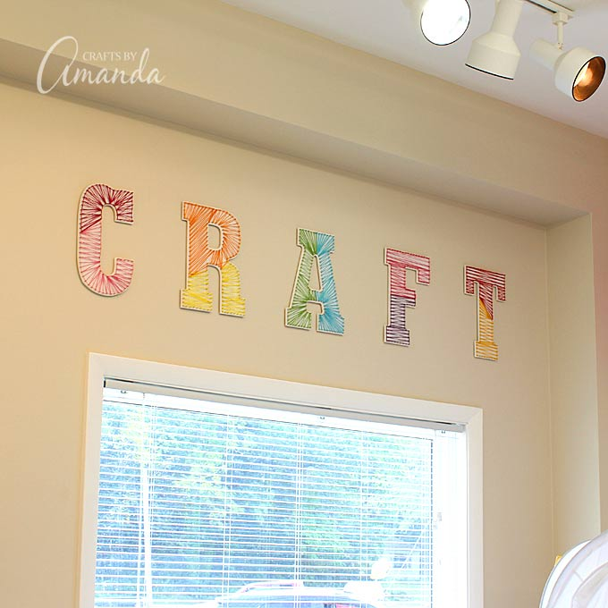 27+ DIY String Art Projects: Craft String Art from Crafts By Amanda