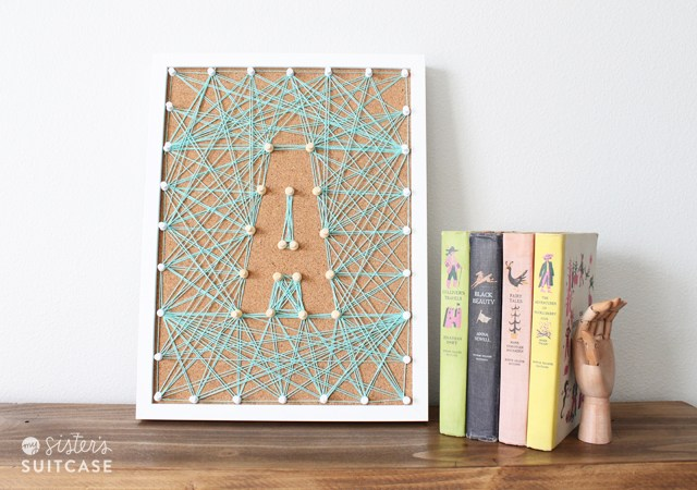 27+ DIY String Art Projects: DIY Corkboard String Art from Tatertots and Jello