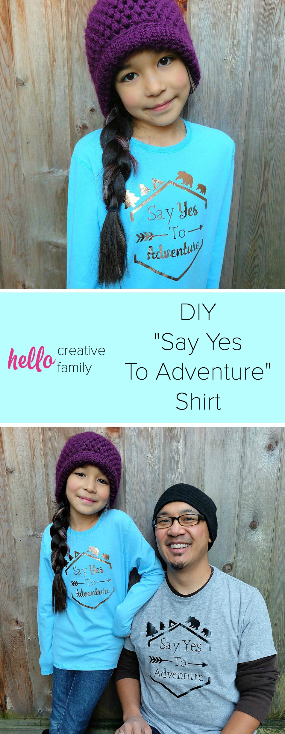 No matter what adventure life throws your way, say yes to adventure with this DIY shirt! Made using the Cricut, this post contains a free cut file and makes an adorable shirt for camping, hiking and other outdoor adventures!