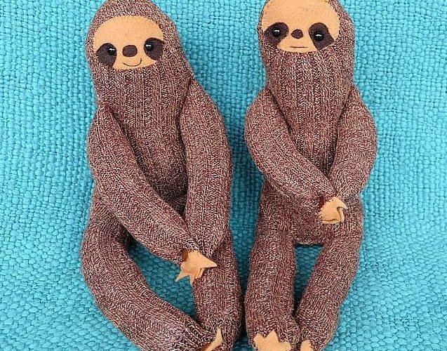 DIY Sock Sloth Sewing Project