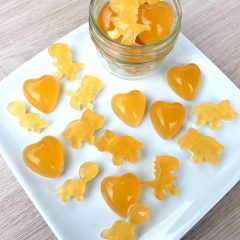 Easy Homemade Sore Throat Gummies Recipe with Lemon, Ginger and Honey