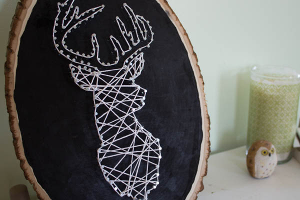 27+ DIY String Art Projects: Deer String Art from A Week from Thursday
