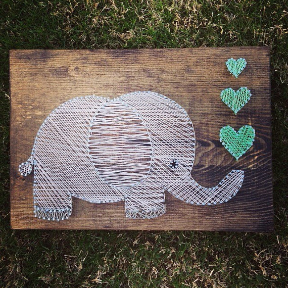 Elephant String Art from Nidify