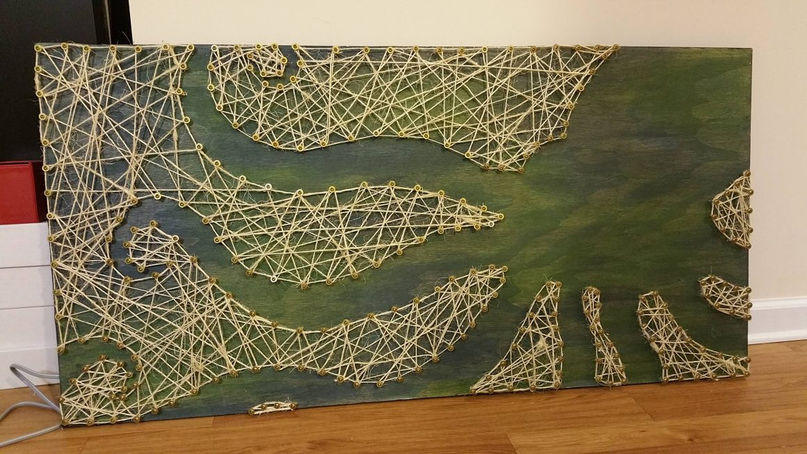 27+ DIY String Art Projects: Octopus String Art from Imgur