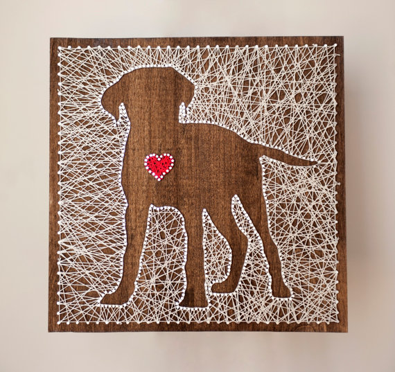 Puppy Love String Art from Crafty Creations