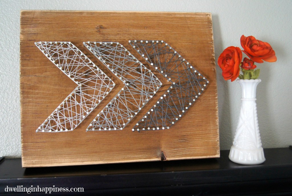 27 diy string art project inspiration hello creative family 27 diy string art projects rustic arrow string art from dwelling in happiness sciox Gallery