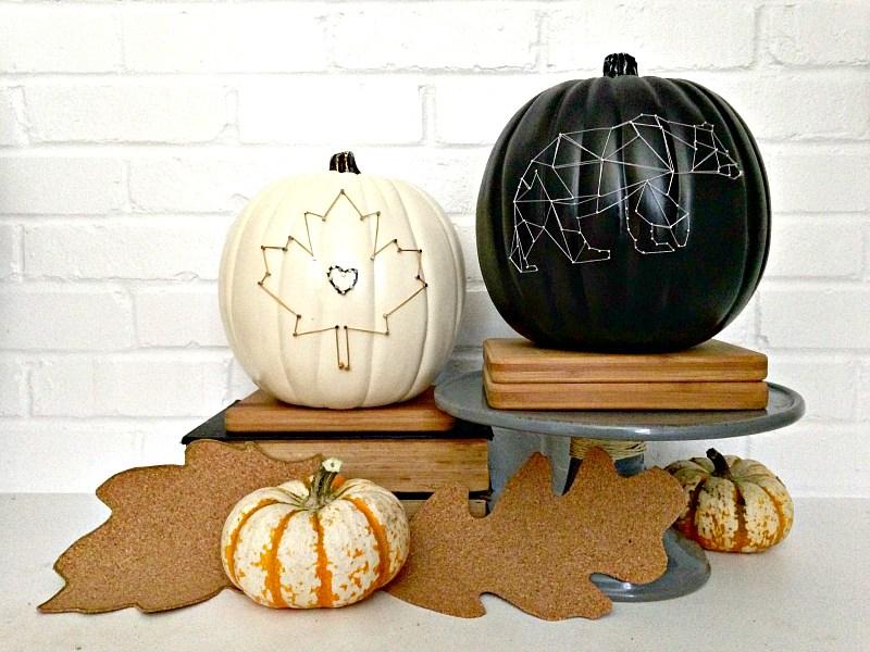 27+ DIY String Art Projects: String Art Pumpkins from Houseologie
